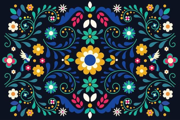 Bunter mexikanischer hintergrund des flachen stils
