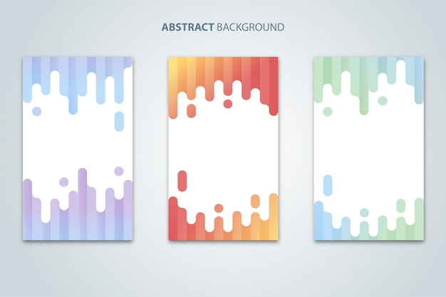 Bunter moderner abstrakter hintergrund-vektor