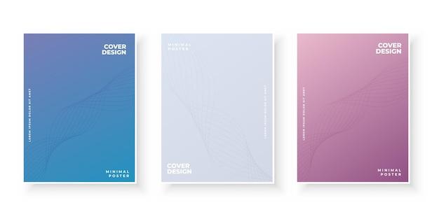 Bunter moderner farbverlauf deckt vorlagen-design-set