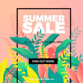 Bunter moderner sommerschlussverkaufhintergrund