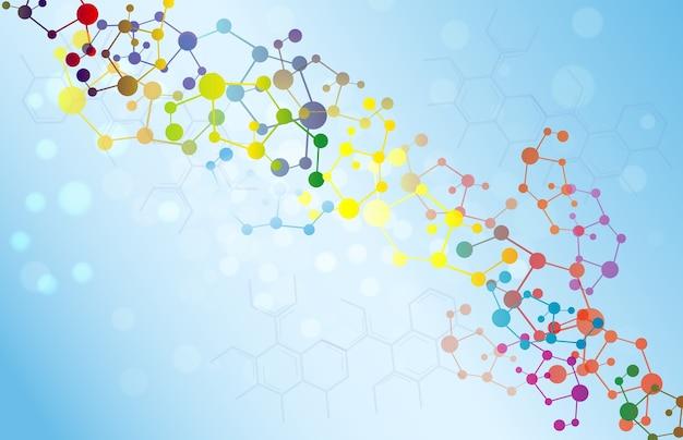 Bunter molekülillustrationshintergrund