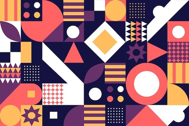 Bunter mosaikhintergrund des flachen designs