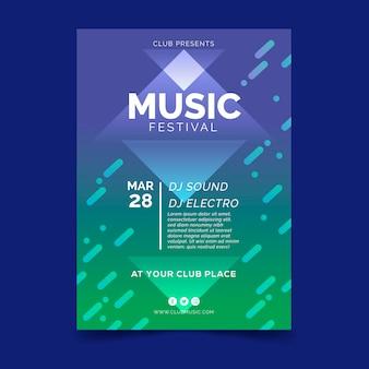 Bunter musikfestival-flyer