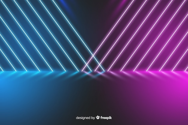 Bunter neonlichtstadiumshintergrund