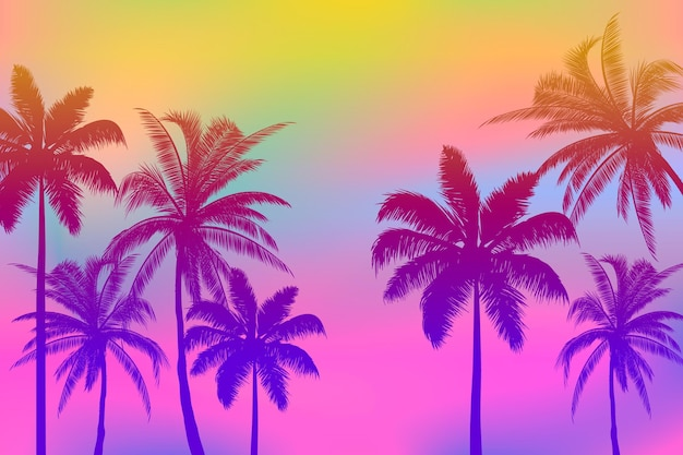 Bunter palmenschattenbildhintergrund