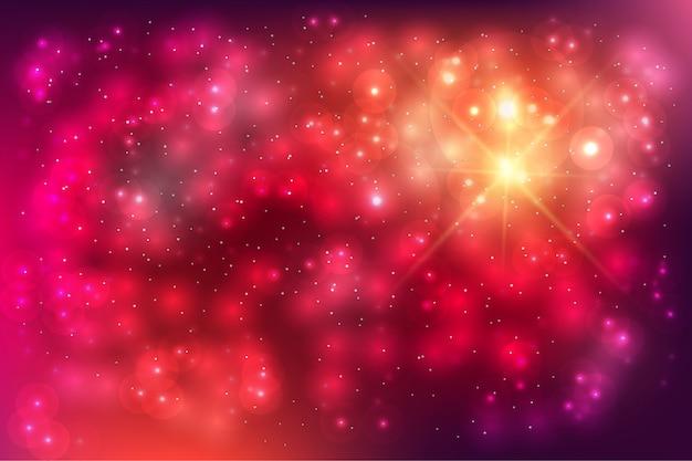 Bunter partikelhintergrund mit verschwommenem buntem lichtbokeh