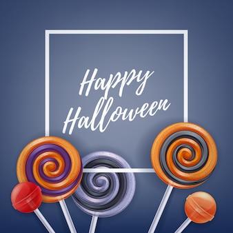 Bunter partyhintergrund der halloween-bonbons.