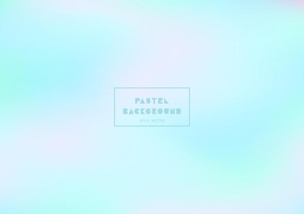 Bunter pastellhintergrund mit glatten kurven. holographische gradiententexturen.