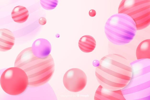Bunter realistischer flüssiger glatter ballhintergrund