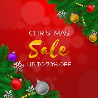 Bunter realistischer weihnachtsverkauf
