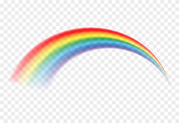 Bunter regenbogen lokalisiert.