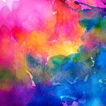 Bunter regenbogenhintergrund des aquarells