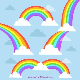 Bunter regenbogensatz