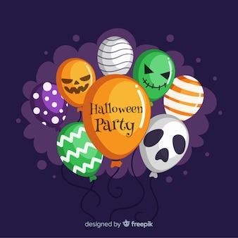 Bunter satz halloween-ballone