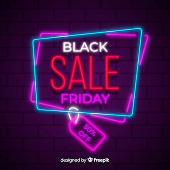 Bunter schwarzer freitag-neonverkauf