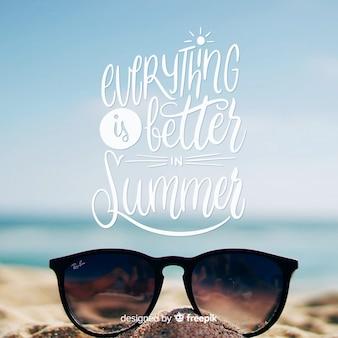Bunter sommer schriftzug