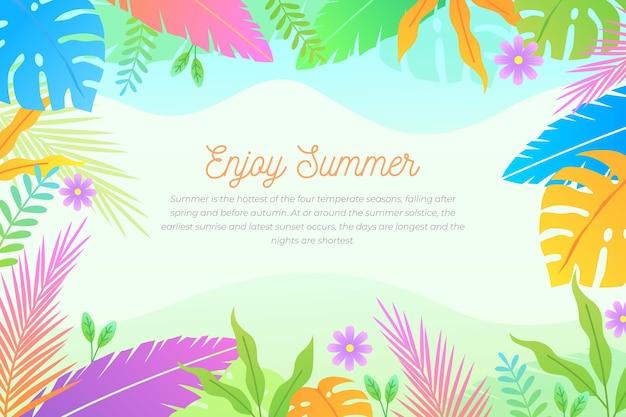Bunter sommerhintergrund mit beschriftung
