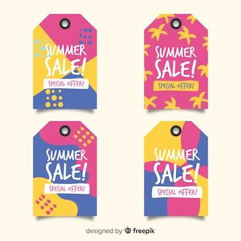 Bunter sommerschlussverkauf beschriftet sammlung