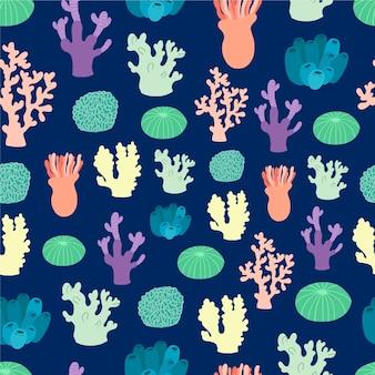 Bunter stil des korallenmusters