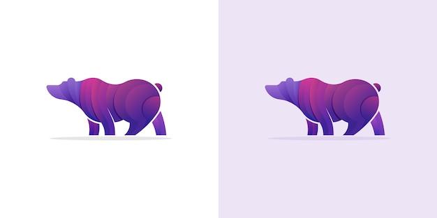 Bunter stil des polaren logo-farbverlaufs