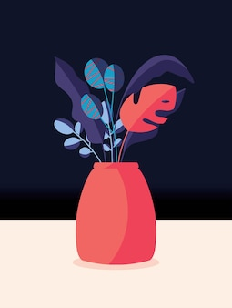 Bunter strauß der frühlingsblumen und zweige in einer vase. stilvolle künstlerische vertikale illustration.