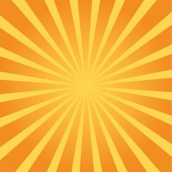 Bunter sunburst. farbige sonnenstrahlen-karikaturillustration
