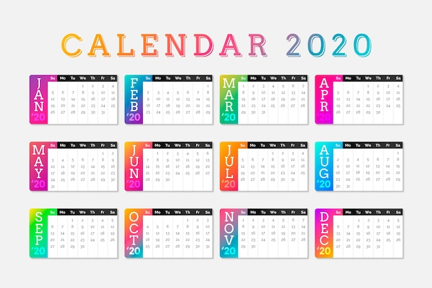 Bunter terminkalender 2020