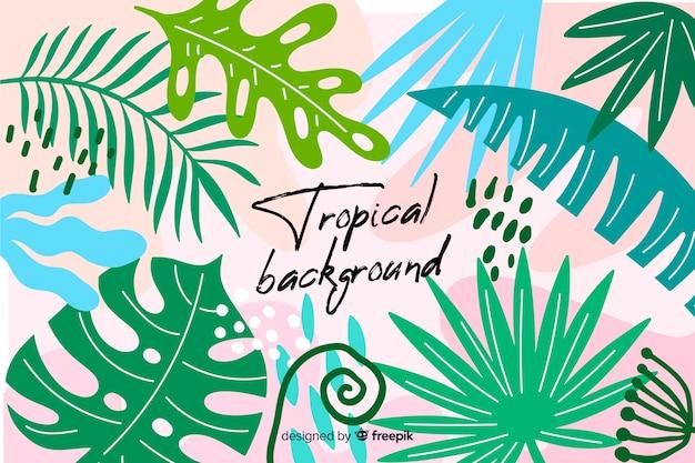 Bunter tropischer blatthintergrund