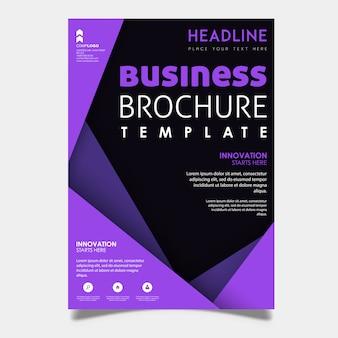 Bunter Vektor-Geschäfts-Broschüren-Schablonen-Design