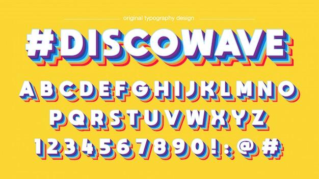 Bunter vintager typografieentwurf