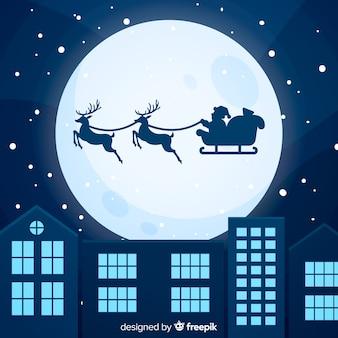Bunter weihnachtshintergrund mit flachem design