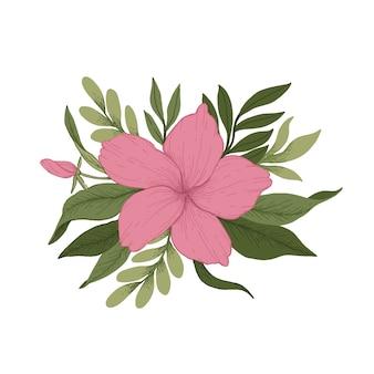 Bunter weinleseblumenstrauß