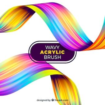 Bunter wellenförmiger acrylhintergrund