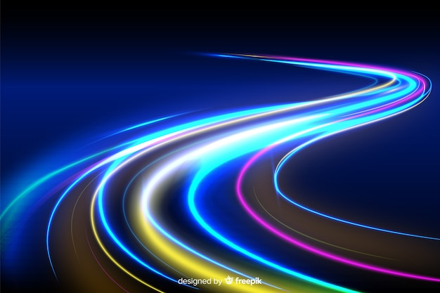 Bunter wellenförmiger neonlichthinterhintergrund
