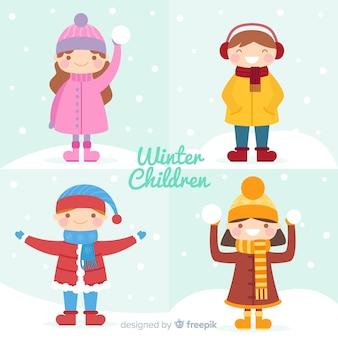 Bunter winterkinderhintergrund
