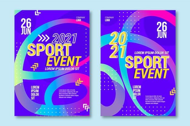 Buntes abstraktes design der sportereignisplakatvorlage