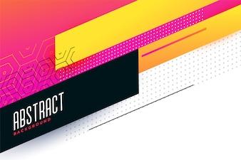 Buntes abstraktes geometrisches Hintergrunddesign
