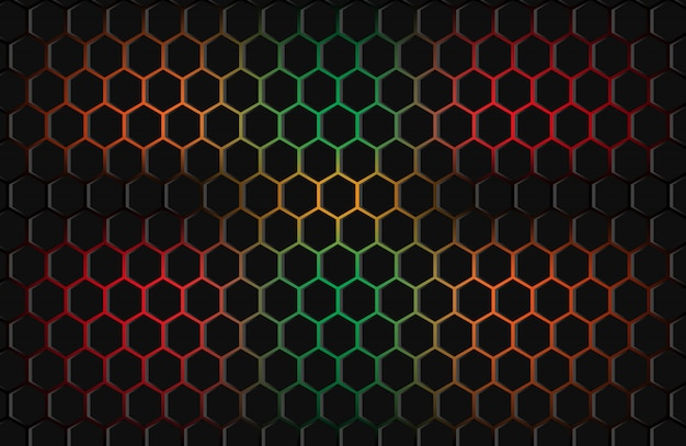 Buntes abstraktes hintergrundhexagon