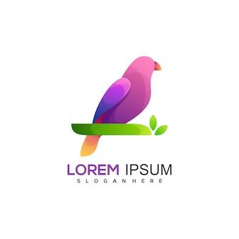 Buntes abstraktes logo des fantastischen vogels
