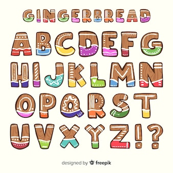 Buntes alphabet des lebkuchen