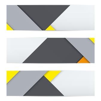 Buntes banner aus ungewöhnlichem modernem material