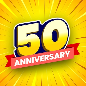 Buntes banner zum 50-jährigen jubiläum