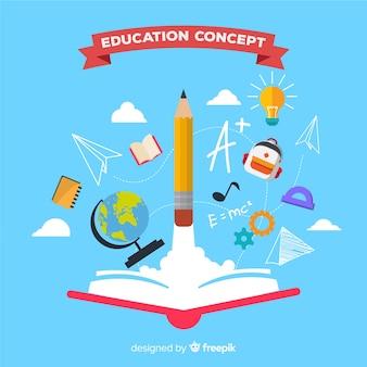Buntes Bildungskonzept mit flachem Design