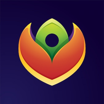 Buntes blütenblumen-logo-design