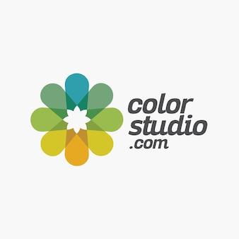 Buntes blumen-kreatives logo