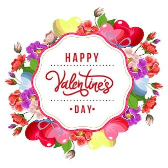 Buntes blumenarrangement der valentinsgrußrose