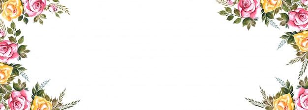 Buntes blumenfahnen-hintergrunddesign der schönen hochzeit