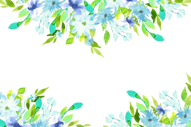 Buntes blumenhintergrunddesign des aquarells