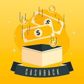 Buntes cashback-konzept