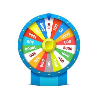 Buntes casino roulette. illustration.